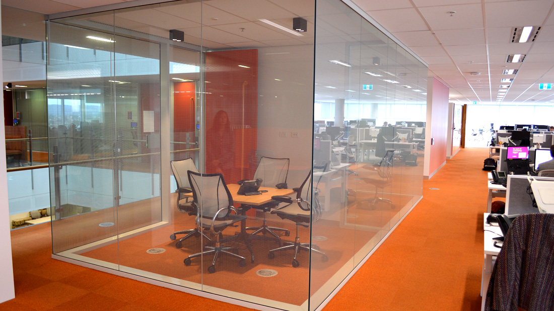 Adelaide Bendigo Bank - Double Glazed Aluminium Framed Partitions