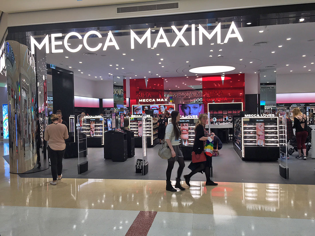 Mecca Maxima Cosmetics Store at Westfield Matrion Adelaide
