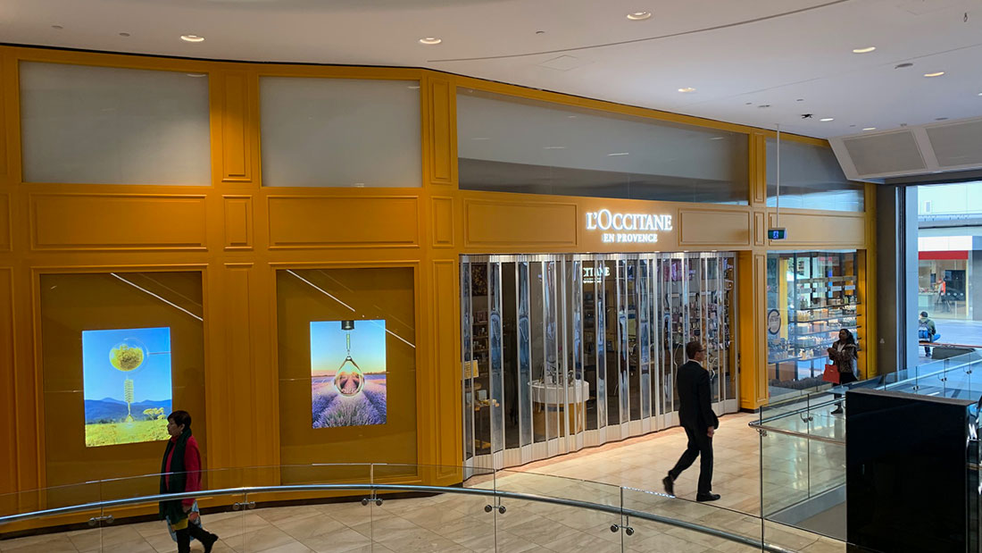 L'Occitane glass shop front installation Adelaide Festival Glass & Glazing